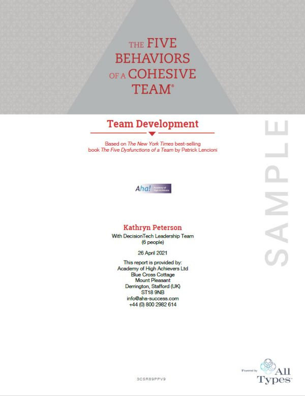 Five Behaviors Profile Powered by All Types cover