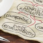 Conflict resolution process on a napkin