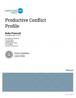 Productive Conflict Sample Report Cover